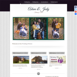 Adam & Judy Wedding Website